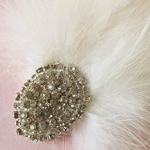Gigi Luxury Vintage Wedding Feather Fascinator