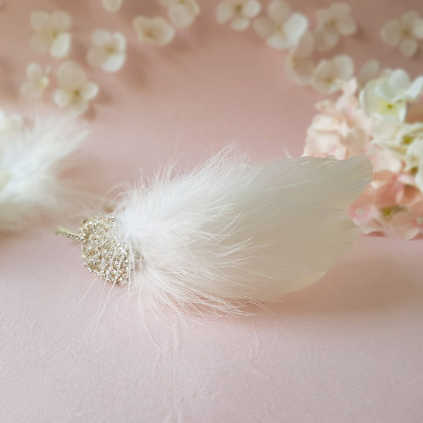 Gigi Luxury Vintage Wedding Feather Fascinator Headdress