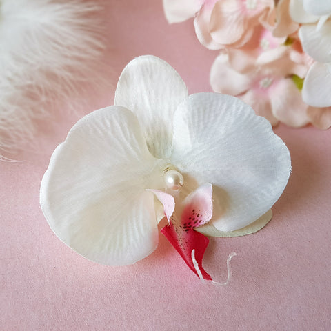 Glorious White Orchid Wedding Hair Flower