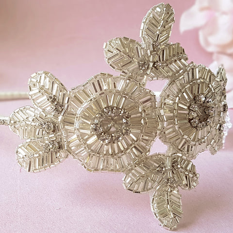 Greta Luxury Art Deco Flower Wedding Headband