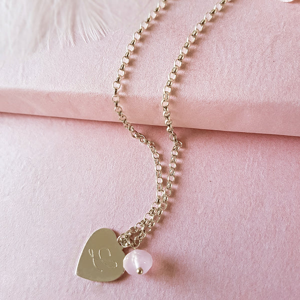 Hearts a Flutter Engraved Personalized Sterling Silver Heart Necklace Gift
