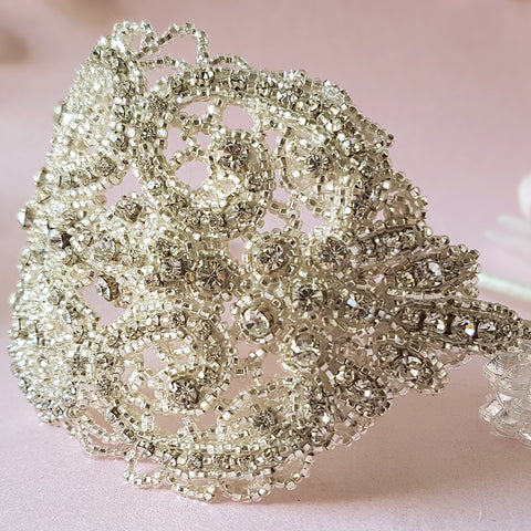 Hedy Statement Vintage Crystal Bridal Headdress For Weddings