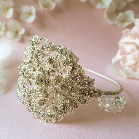 Hedy Statement Vintage Crystal Wedding Headdress