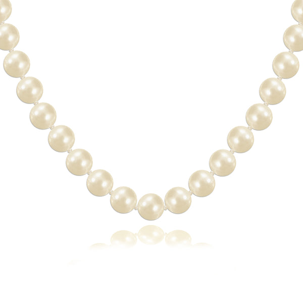 Pearl Necklace with Art Deco CZ Clasp - Susie Warner Jewellery