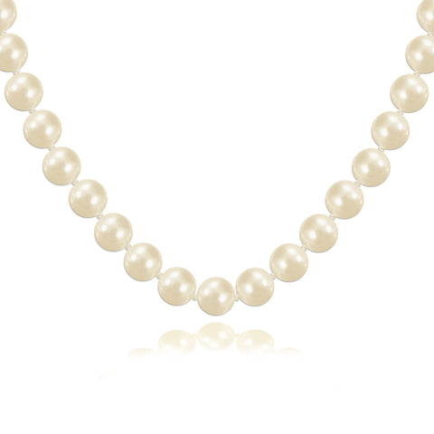 Helene Pearl Necklace with Art Deco CZ Clasp
