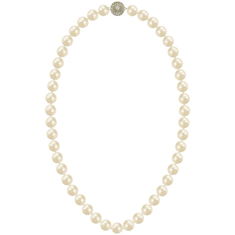 Luxury Freshwater Pearl Necklace with Diamond Clasp - Susie Warner Jewellery