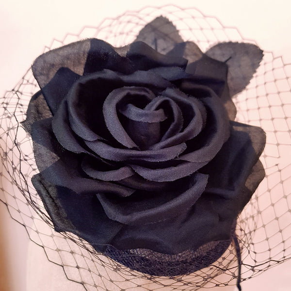 Pure silk rose fascinator