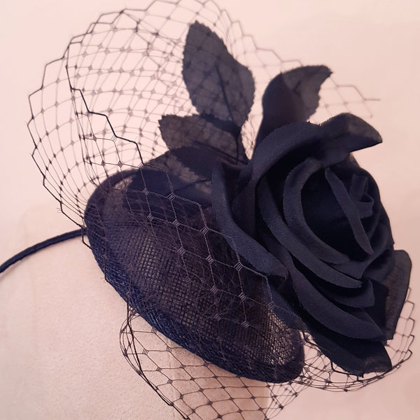 navy fascinator for royal ascot
