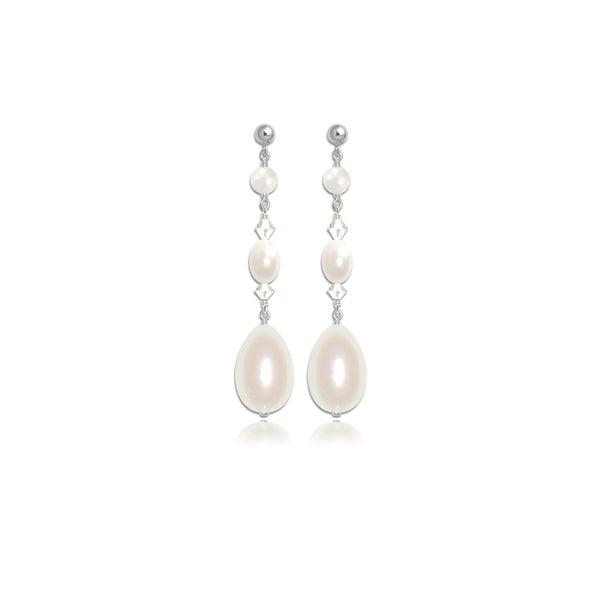 Kismet Pearl & Crystal Bridal Stud Earrings by Susie Warner