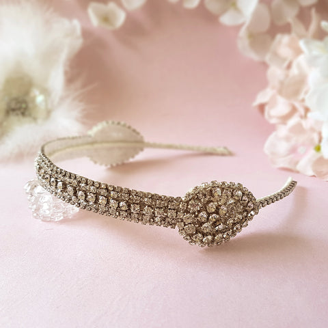 Lady Mary Art Deco Diamante Crystal Wedding Headband