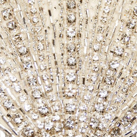 Lana Vintage Art Deco Diamante Fan Wedding Hair Comb detail