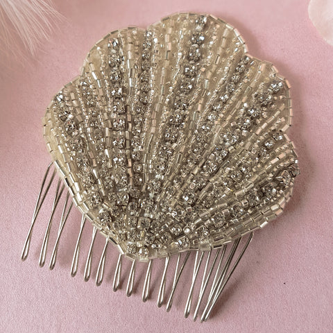 Lana Art Deco Fan Wedding Hair Comb