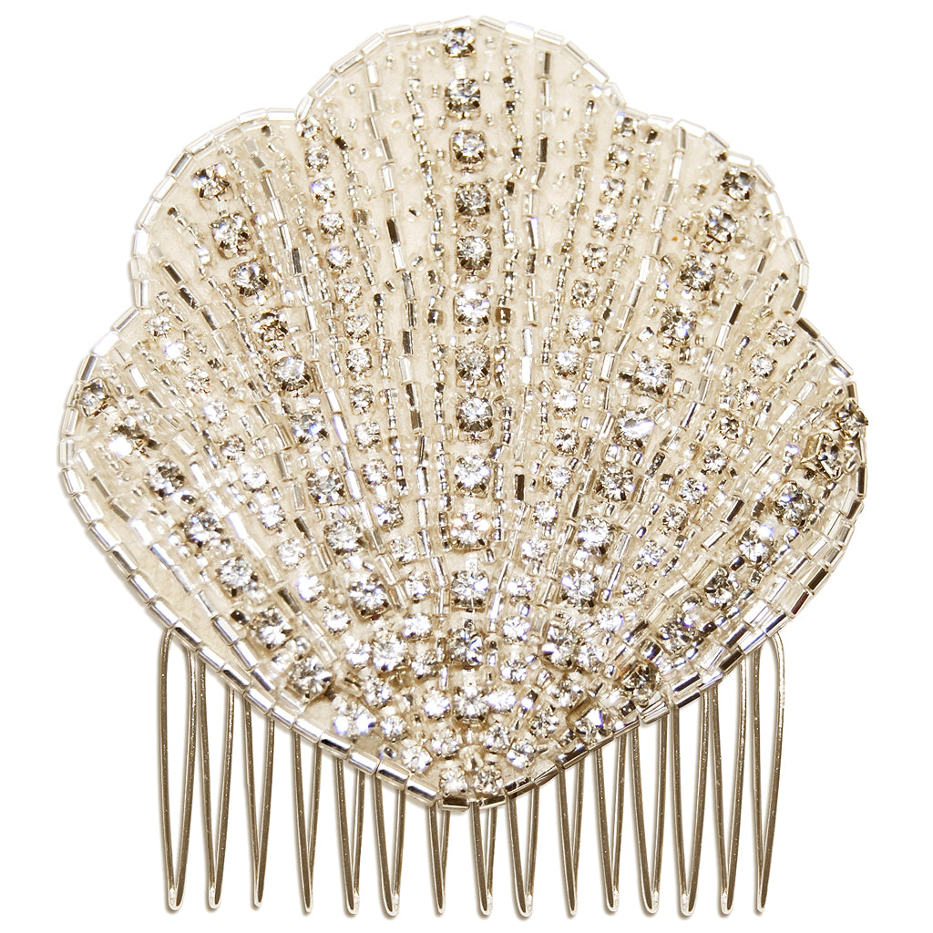 Lana Vintage Art Deco Diamante Fan Bridal Hair Comb
