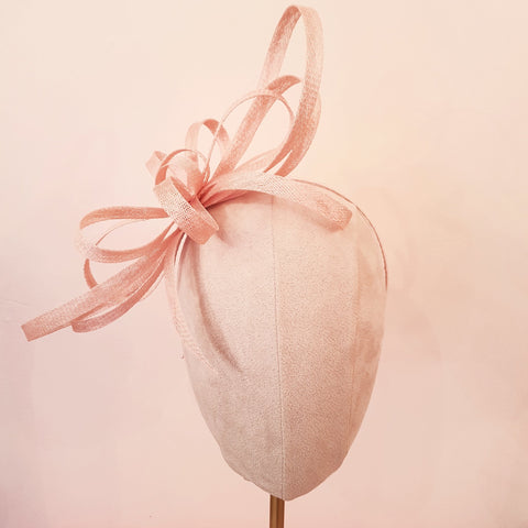 pink bow wedding fascinator