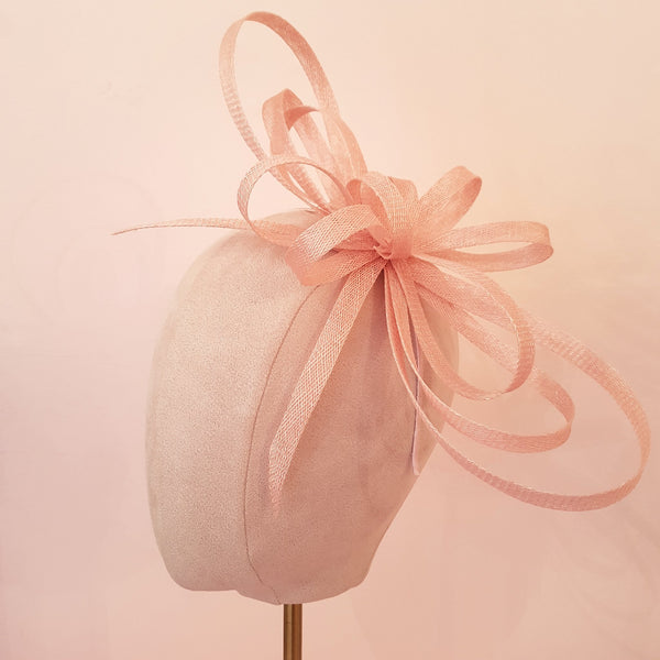 pink fascinator for the races & wedding guests