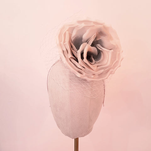 blush pink flower fascinator