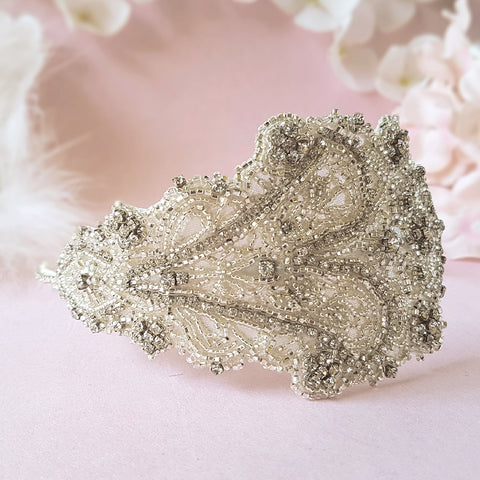 Loretta Vintage Crystal Wedding Headdress