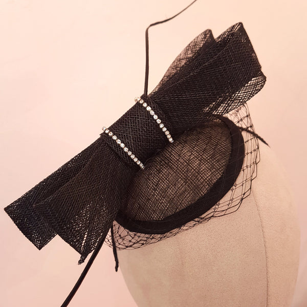 black fascinator for royal ascot & the races