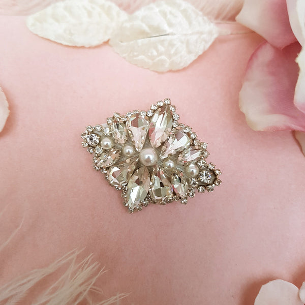 VINTAGE DIAMANTE & PEARL WEDDING HAIR CLIP | SUSIE WARNER BRIDAL ACCESSORIES
