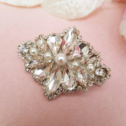 VINTAGE DIAMANTE & PEARL HAIR CLIP | SUSIE WARNER HAIR ACCESSORIES