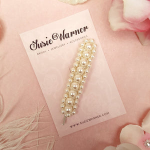 VINTAGE PEARL WEDDING HAIR CLIP | SUSIE WARNER BRIDAL ACCESSORIES