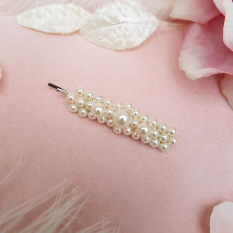 LUXURY VINTAGE PEARL FLOWER HAIR CLIP | SUSIE WARNER HAIR ACCESSORIES