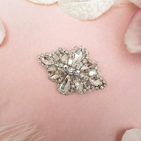 VINTAGE TEARDROP DIAMANTE CRYSTAL HAIR CLIP | SUSIE WARNER WEDDING ACCESSORIES