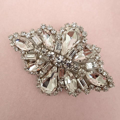TEARDROP DIAMANTE CRYSTAL WEDDING HAIR CLIP | SUSIE WARNER BRIDAL ACCESSORIES