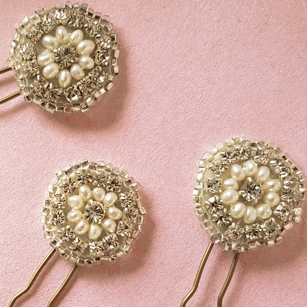 Phoebe Art Deco Wedding Hair Pins