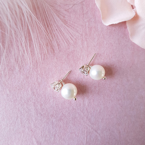 PEARL DROP WEDDING EARRINGS | SUSIE WARNER BRIDAL JEWELLERY