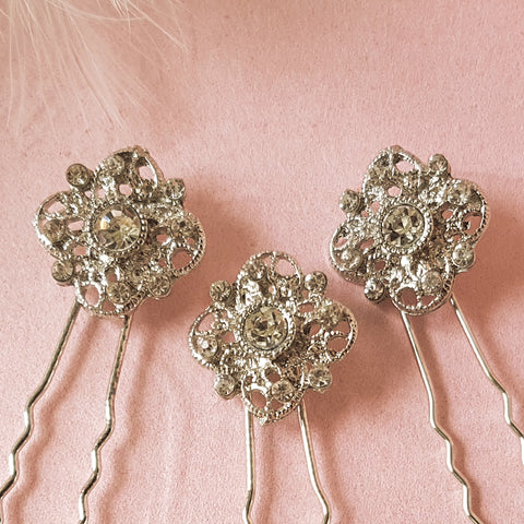 Romantic Vintage Bridal Hair Pins For Weddings