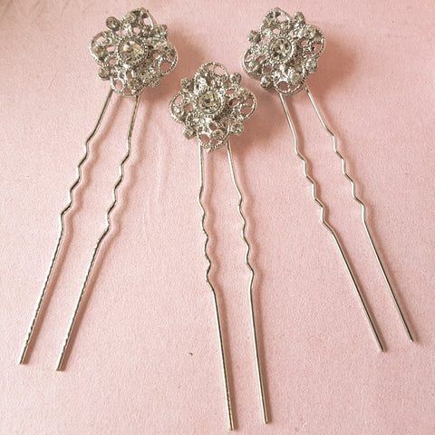 Romantic Vintage Wedding Hair Pin Set