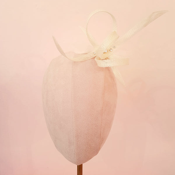 ivory bow wedding fascinator