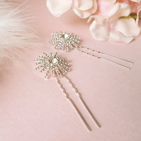 Stellar Vintage Star Wedding Hair Pins Set