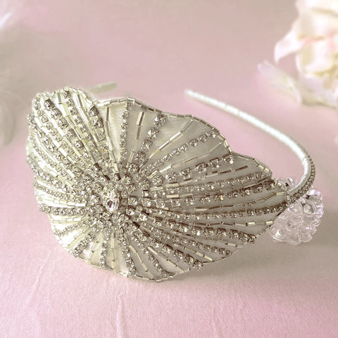 Theda Art Deco Diamante Crystal Wedding Headband