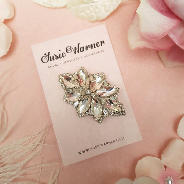 VINTAGE DIAMANTE CRYSTAL HAIR CLIP | SUSIE WARNER WEDDING HAIR ACCESSORIES