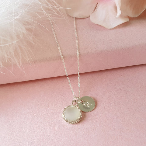 Personalised Letter Necklace with Mother of Pearl - Perfect Gift