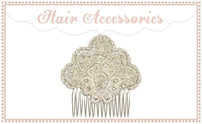 Bridal Hair Combs, Tiaras, Wedding Hair Flowers & Pearl Hair Pins