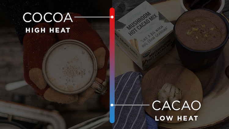Cocoa vs cacao - heating process