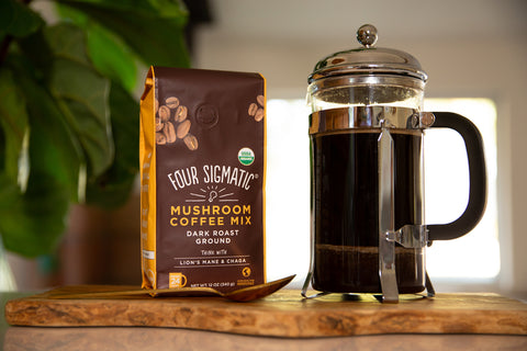 Mushroom Coffee with French Press