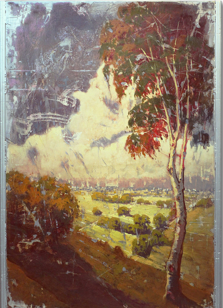 Above The Valley 2 - 56x31 Oil on Steel Panel