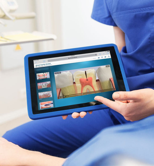 MÜVI Dental Patient Education Videos help patients understand procedures better. The patient education videos significantly increase dental treatment plan acceptance.