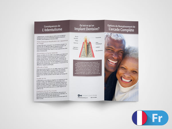 Full Arch Replacement Options 11x8.5 Brochures (French)