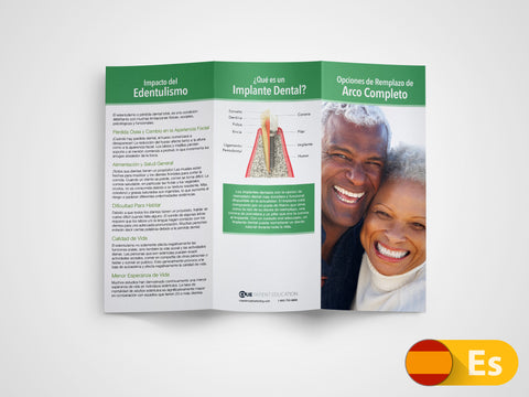 Full Arch Replacement Options 11x8.5 Brochures (Spanish)