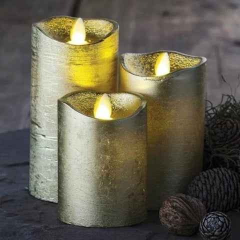 Sara Gold LED Candles