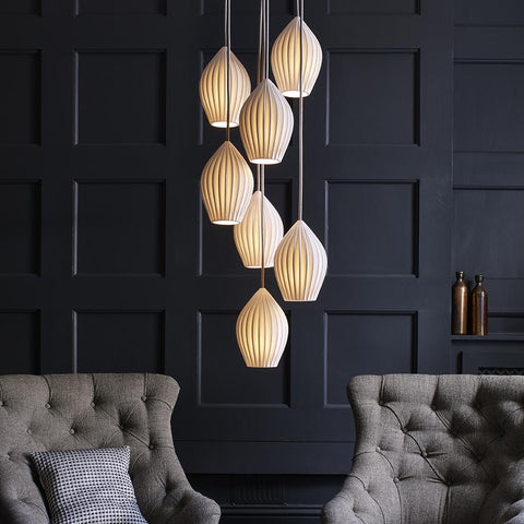 Fin Cluster Pendant Light