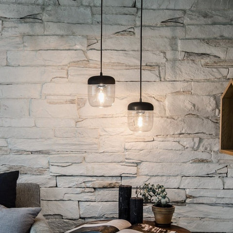 Acorn Black Pendant Light