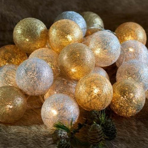 Gold and Silver Bolette String Lights