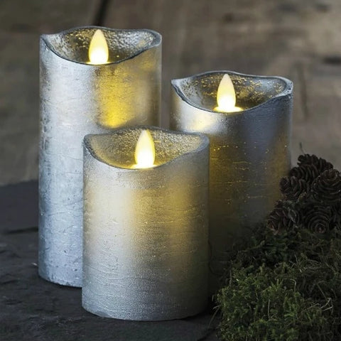 Sara Silver LED Candles
