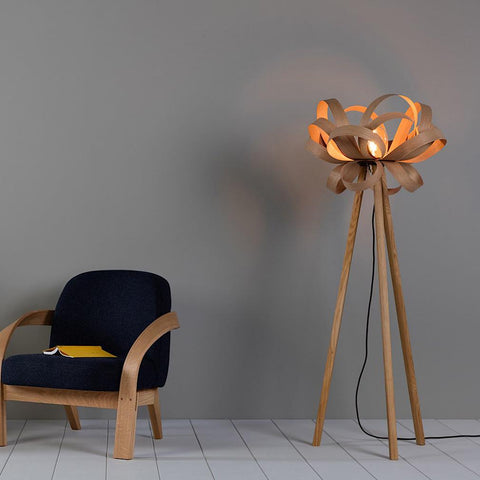 Skipper Floor Lamp-Tom Raffield-Lumison Lighting Design